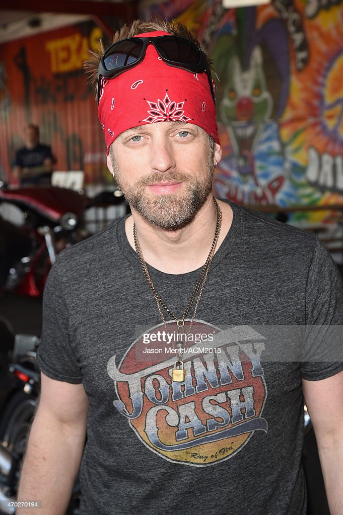 Recording artist Keifer Thompson of music group Thompson Square attends the ACM Charity Motorcycle Ride Concert from Strokers Dallas to Maverick...