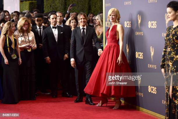 Recording artist Keith Urban and actor Nicole Kidman attend the 69th Annual Primetime Emmy Awards at Microsoft Theater on September 17 2017 in Los...