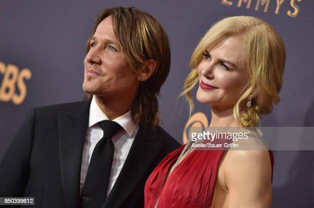 Recording artist Keith Urban and actress Nicole Kidman arrive at the 69th Annual Primetime Emmy Awards at Microsoft Theater on September 17 2017 in...