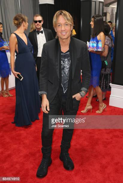 Recording artist Keith Urban at The 59th Annual GRAMMY Awards at STAPLES Center on February 12 2017 in Los Angeles California
