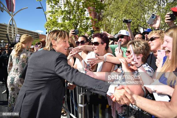 Recording artist Keith Urban attends the 52nd Academy Of Country Music Awards at Toshiba Plaza on April 2 2017 in Las Vegas Nevada