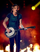 Recording artist Keith Urban performs onstage during the 51st Academy of Country Music Awards at MGM Grand Garden Arena on April 3 2016 in Las Vegas...