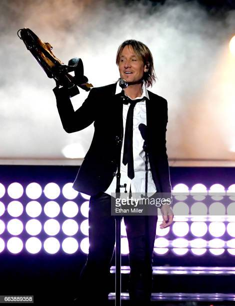 Recording artist Keith Urban performs onstage during the 52nd Academy of Country Music Awards at TMobile Arena on April 2 2017 in Las Vegas Nevada
