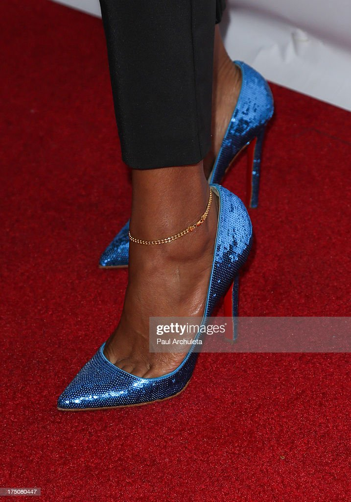 Recording Artist <a gi-track='captionPersonalityLinkClicked' href=/galleries/search?phrase=Kelis&family=editorial&specificpeople=203061 ng-click='$event.stopPropagation()'>Kelis</a> (Shoe Detail) attends the Women Like Us Foundation's One Girl At A Time fundraiser at The Aventine Hollywood on July 30, 2013 in Hollywood, California.