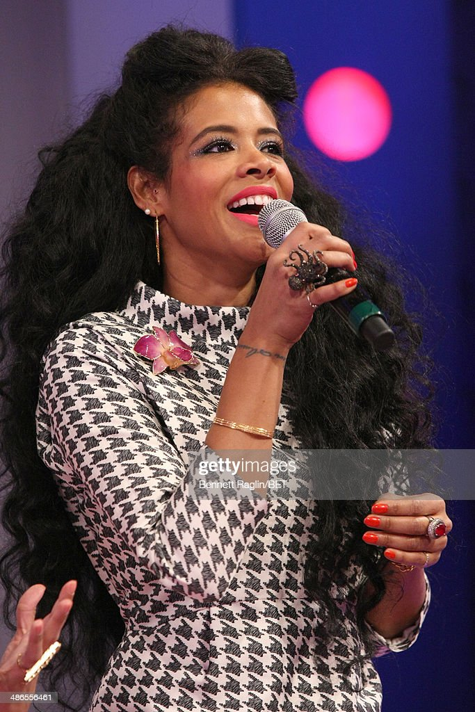 Recording artist <a gi-track='captionPersonalityLinkClicked' href=/galleries/search?phrase=Kelis&family=editorial&specificpeople=203061 ng-click='$event.stopPropagation()'>Kelis</a> visits 106 & Park at BET studio on April 24, 2014 in New York City.