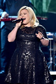 Recording artist Kelly Clarkson performs onstage during the 2014 American Country Countdown Awards at Music City Center on December 15 2014 in...