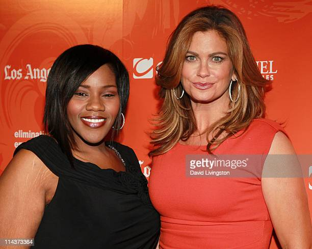 Recording artist Kelly Price and entrepreneur Kathy Ireland attend the YWCA Greater Los Angeles' 2011 Phenomenal Woman Awards Luncheon at the Omni...