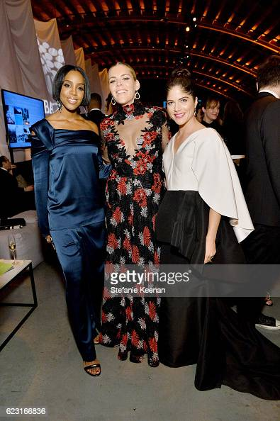 Recording artist Kelly Rowland and actors Busy Philipps and Selma Blair attend the Fifth Annual Baby2Baby Gala Presented By John Paul Mitchell...