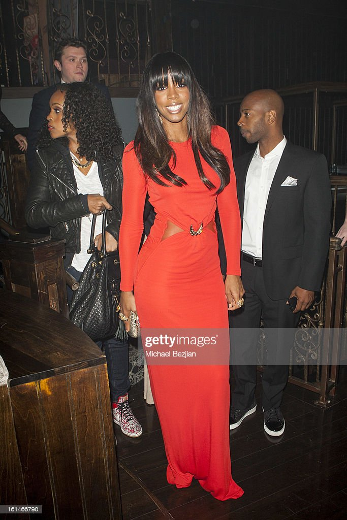 Recording Artist <a gi-track='captionPersonalityLinkClicked' href=/galleries/search?phrase=Kelly+Rowland&family=editorial&specificpeople=201760 ng-click='$event.stopPropagation()'>Kelly Rowland</a> attends Republic Records Post Grammy Party at The Emerson Theatre on February 10, 2013 in Hollywood, California.