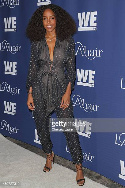 Recording artist Kelly Rowland attends the WE tv's LA Hair Season 4 Premiere Party at Avalon Hollywood on July 14 2015 in Los Angeles California