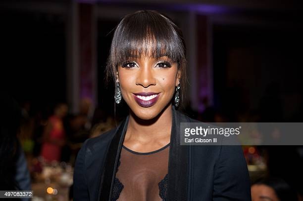 Recording Artist Kelly Rowland attends the YWCA Host 13th Annual Rhapsody Gala at the Beverly Wilshire Four Seasons Hotel on November 13 2015 in...