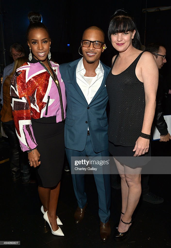 Recording artist Kelly Rowland recording artist TI and actress Pauley Perrette attend The GRAMMY Nominations Concert Live Countdown to Music's...