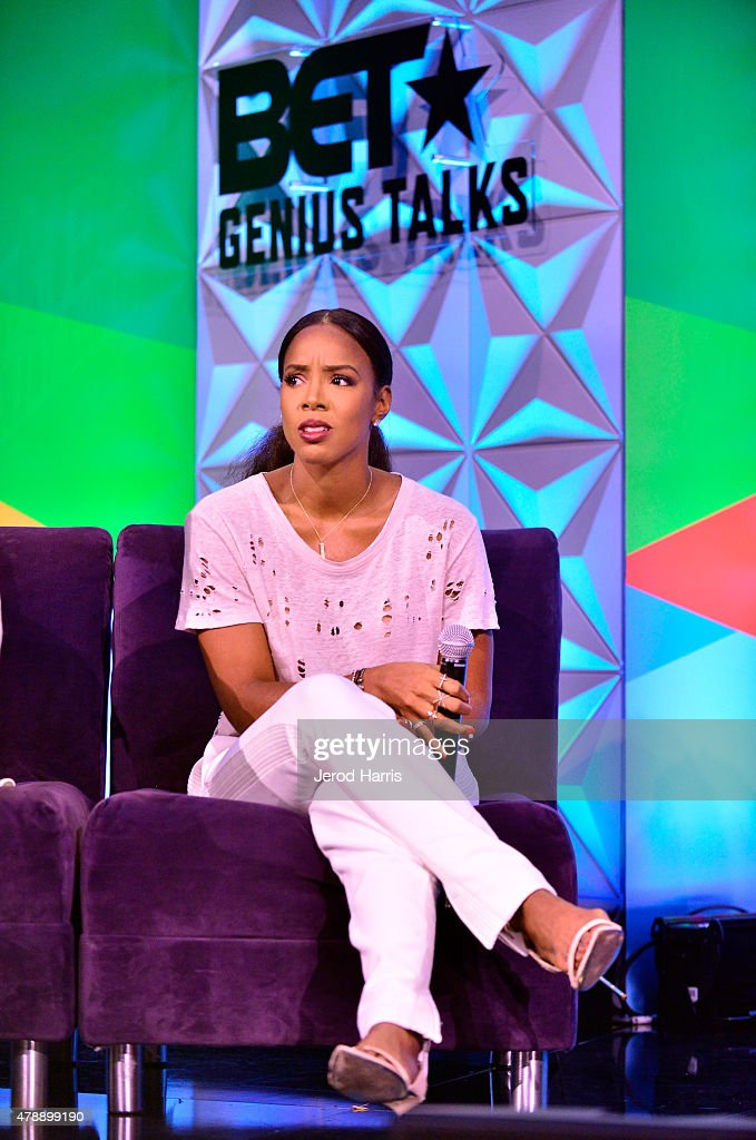Recording artist Kelly Rowland speaks onstage during the Genius Talks presented by ATT during the 2015 BET Experience at the Los Angeles Convention...