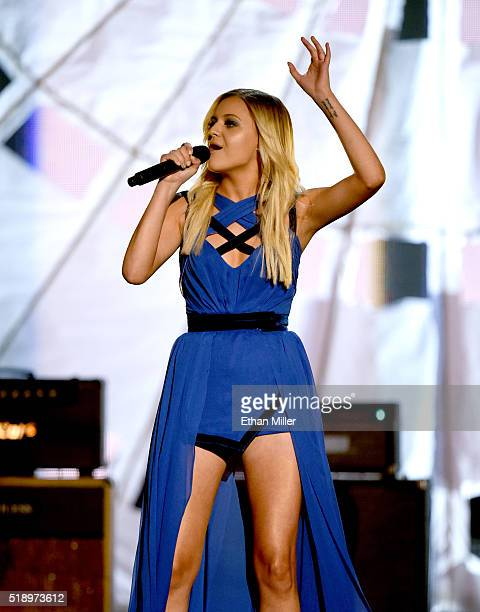 Recording artist Kelsea Ballerini performs onstage during the 51st Academy of Country Music Awards at MGM Grand Garden Arena on April 3 2016 in Las...