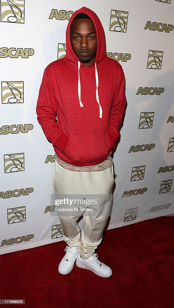 Recording artist Kendrick Lamar attends The American Society of Composers, Authors and Publishers (ASCAP) 26th Annual Rhythm & Soul Music Awards at The Beverly Hilton Hotel on June 27, 2013 in Beverly Hills, California.