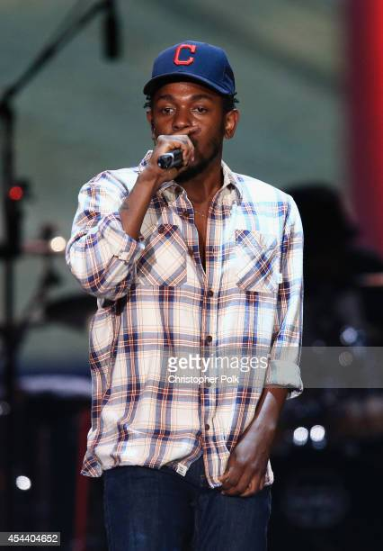 Recording artist Kendrick Lamar performs on the Marilyn Stage during day 1 of the 2014 Budweiser Made in America Festival at Los Angeles Grand Park...