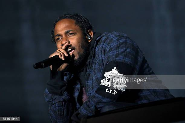 Recording artist Kendrick Lamar performs on the Samsung Stage during day two at Austin City Limits Music Festival 2016 at Zilker Park on October 1...