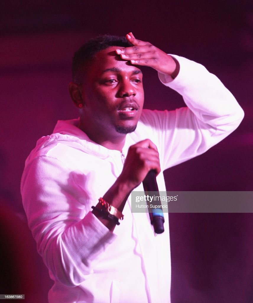Recording artist <a gi-track='captionPersonalityLinkClicked' href=/galleries/search?phrase=Kendrick+Lamar&family=editorial&specificpeople=8012417 ng-click='$event.stopPropagation()'>Kendrick Lamar</a> performs onstage at the VICE Kills TX Music Showcase during the 2013 SXSW Music, Film + Interactive Festival at Viceland on March 16, 2013 in Austin, Texas.