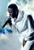 Recording artist Kendrick Lamar performs onstage during the 56th GRAMMY Awards at Staples Center on January 26 2014 in Los Angeles California