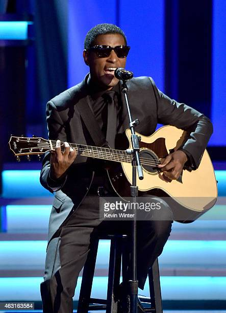 Recording artist Kenneth 'Babyface' Edmonds performs onstage during Stevie Wonder Songs In The Key Of Life An AllStar GRAMMY Salute at Nokia Theatre...