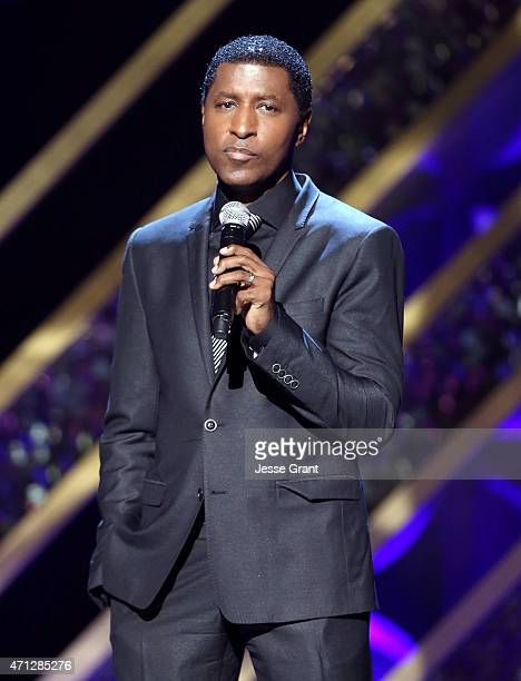 Recording artist Kenneth 'Babyface' Edmonds performs onstage during The 42nd Annual Daytime Emmy Awards at Warner Bros Studios on April 26 2015 in...