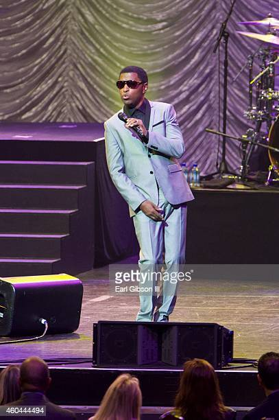 Recording Artist Kenny 'Babyface' Edmonds performs at the 947 The Wave's Soulful Christmas 2014 at Nokia Theatre LA Live on December 13 2014 in Los...
