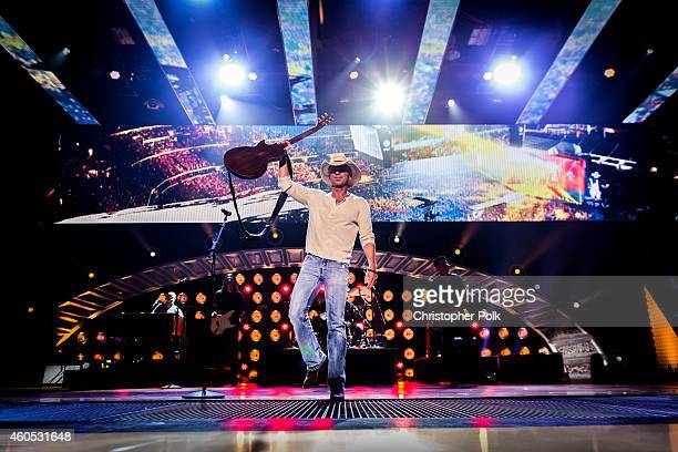 Recording artist Kenny Chesney performs onstage during the 2014 American Country Countdown Awards at Music City Center on December 15 2014 in...