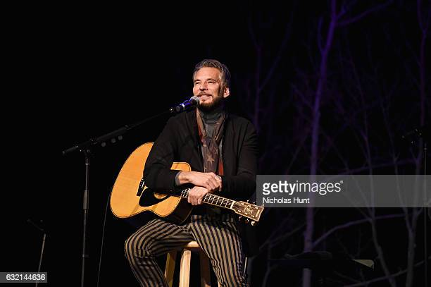 Recording artist Kenny Loggins performs onstage during An Artist at the Table Benefit during the 2017 Sundance Film Festival at DeJoria Center on...