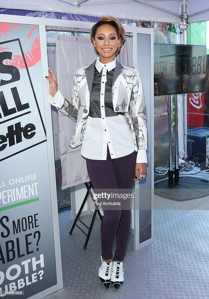 Recording Artist Keri Hilson hosts a 'Kiss & Tell' experiment at the Santa Monica Pier on January 16, 2013 in Santa Monica, California.