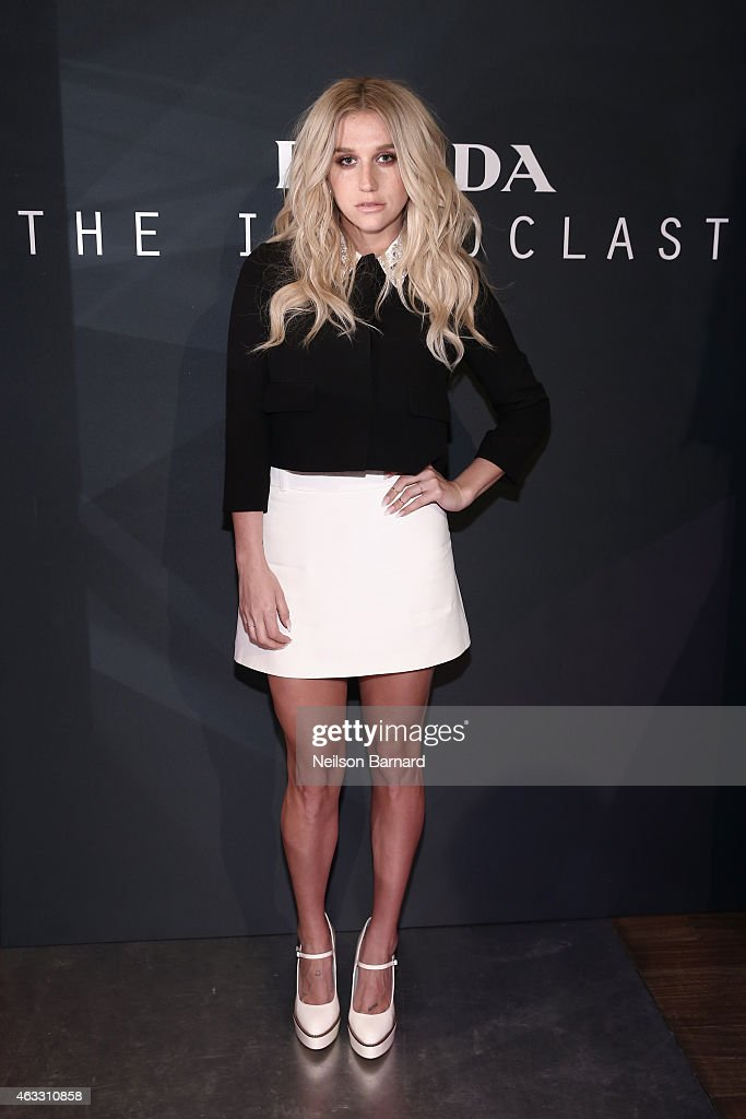 Recording artist Kesha attends Prada The Iconoclasts New York 2015 on February 12 2015 in New York City