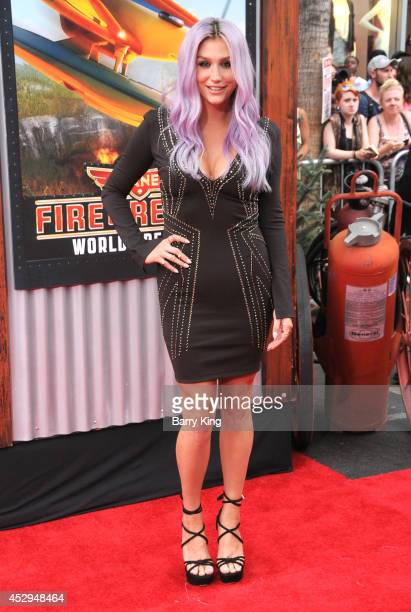 Recording artist Kesha attends the premiere of 'Planes Fire Rescue' on July 15 2014 at the El Capitan Theatre in Hollywood California