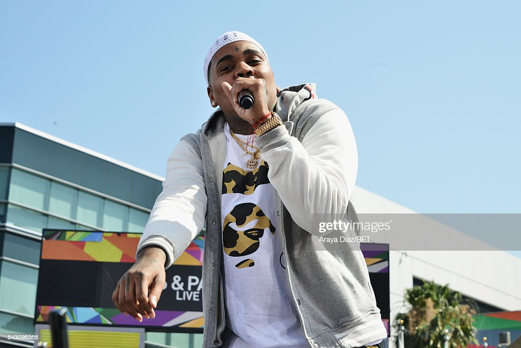 Recording artist <a gi-track='captionPersonalityLinkClicked' href=/galleries/search?phrase=Kevin+Gates&family=editorial&specificpeople=9468198 ng-click='$event.stopPropagation()'>Kevin Gates</a> performs onstage at 106 & Park Sponsored by Coca-Cola during the 2016 BET Experience on June 25, 2016 in Los Angeles, California.