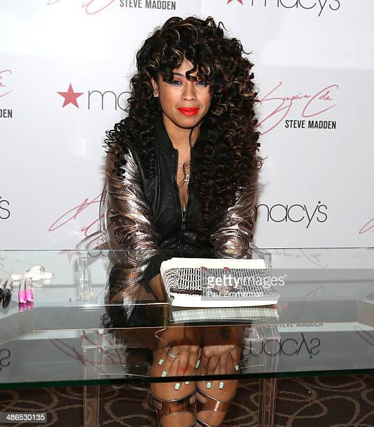 Recording artist Keyshia Cole at Macy's Herald Square on April 24 2014 in New York City