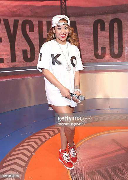 Recording artist Keyshia Cole visits 106 Park at BET studio on July 30 2014 in New York City