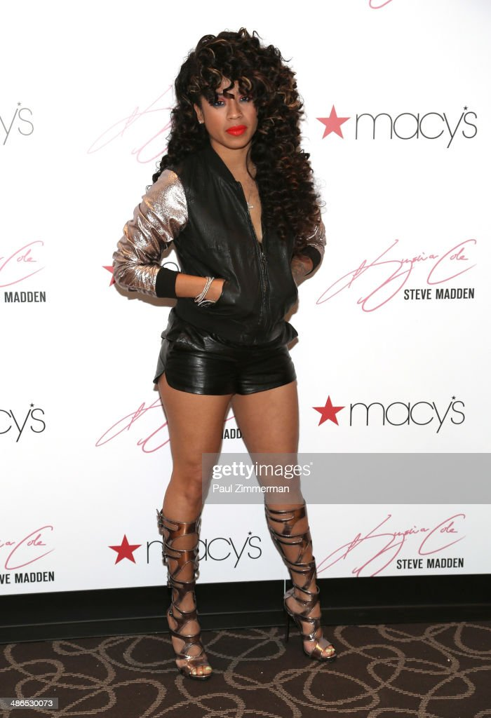 Recording artist <a gi-track='captionPersonalityLinkClicked' href=/galleries/search?phrase=Keyshia+Cole&family=editorial&specificpeople=563536 ng-click='$event.stopPropagation()'>Keyshia Cole</a> visits Macy's Herald Square on April 24, 2014 in New York City.