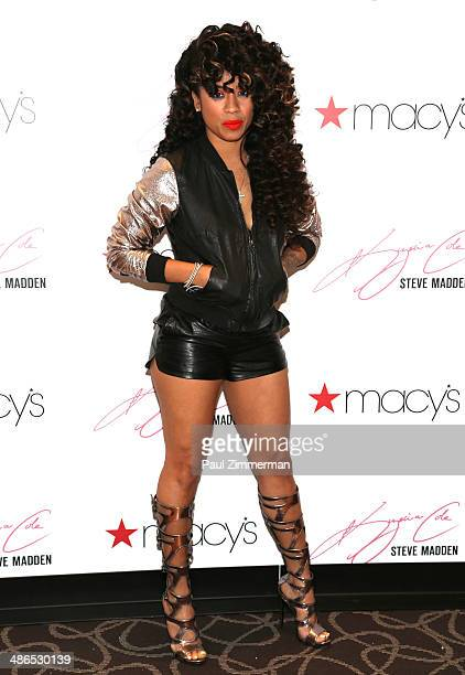 Recording artist Keyshia Cole visits Macy's Herald Square on April 24 2014 in New York City