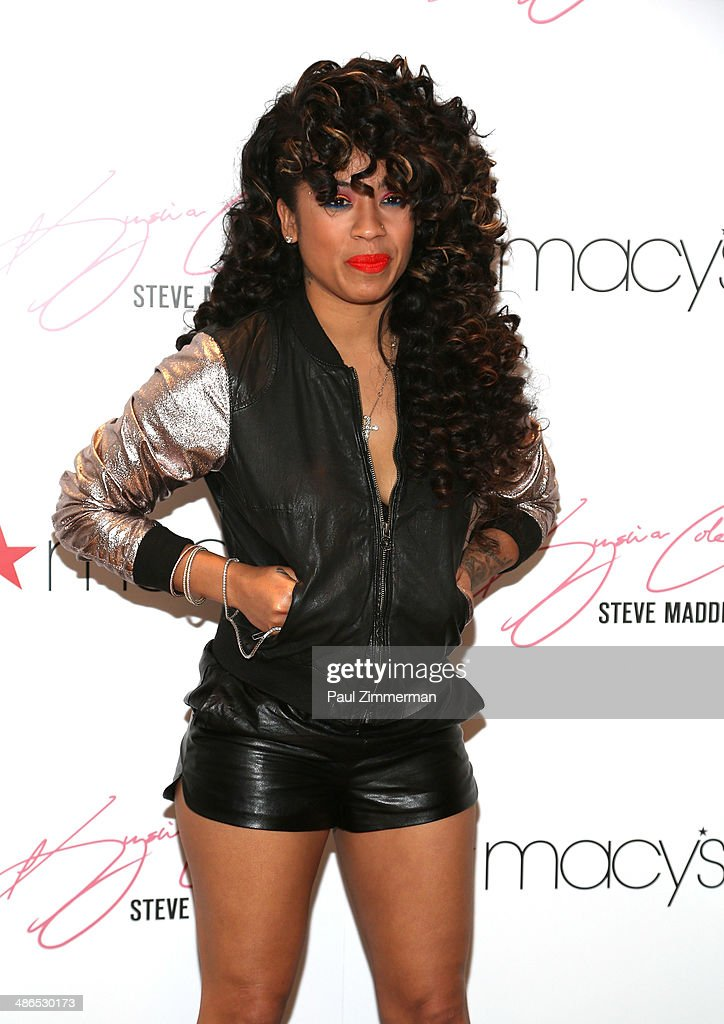 Recording artist Keyshia Cole visits Macy's Herald Square on April 24, 2014 in New York City.