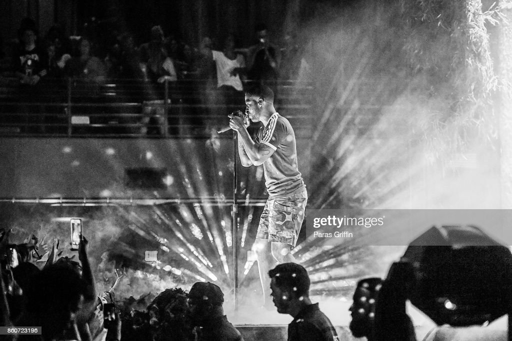 Recording artist Kid Cudi perform in concert during 'Passion, Pain & Demon Slayin' World Tour' at Coca Cola Roxy on October 12, 2017 in Atlanta, Georgia.