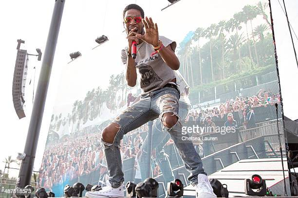 Recording artist Kid Cudi performs during the Coachella valley music and arts festival at The Empire Polo Club on April 19 2014 in Indio California