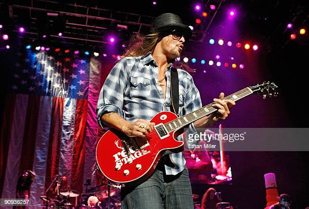 Recording artist Kid Rock performs at The Pearl concert theater at the Palms Casino Resort September 17 2009 in Las Vegas Nevada