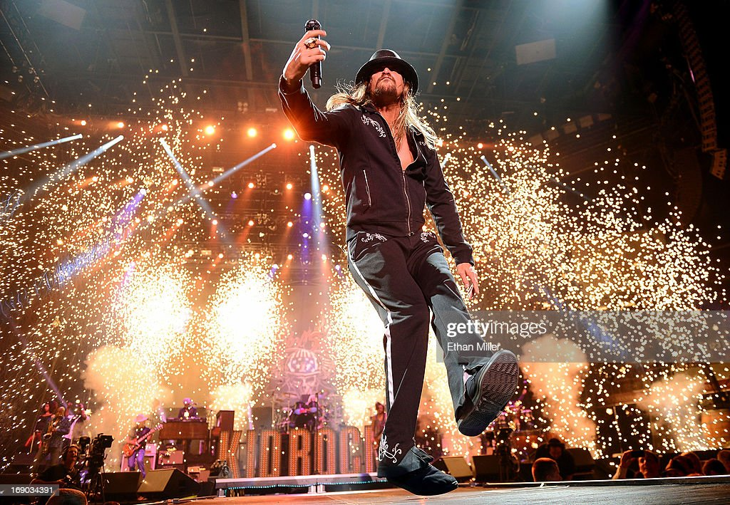 Recording artist <a gi-track='captionPersonalityLinkClicked' href=/galleries/search?phrase=Kid+Rock&family=editorial&specificpeople=171123 ng-click='$event.stopPropagation()'>Kid Rock</a> performs during Tiger Jam 2013 at the Mandalay Bay Events Center on May 18, 2013 in Las Vegas, Nevada.