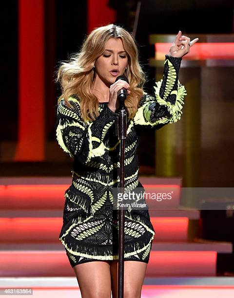 Recording artist Kimberly Perry of music group The Band Perry performs onstage during Stevie Wonder Songs In The Key Of Life An AllStar GRAMMY Salute...