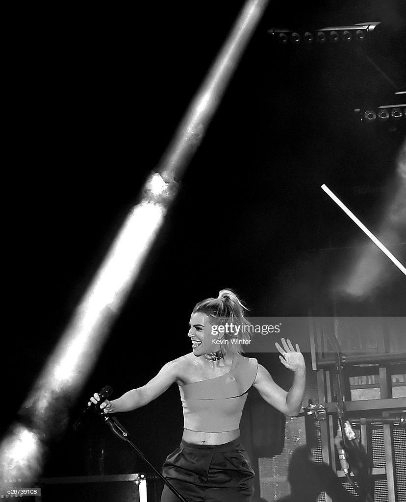 Recording artist Kimberly Perry of The Band Perry performs onstage during 2016 Stagecoach California's Country Music Festival at Empire Polo Club on April 30, 2016 in Indio, California.