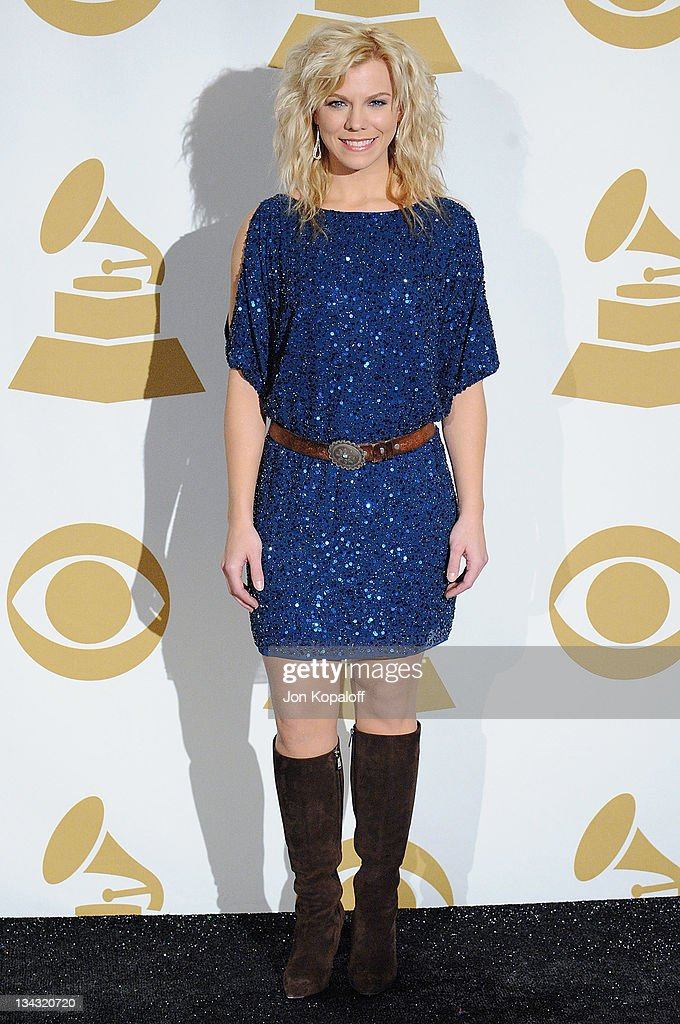 Recording Artist Kimberly Perry of The Band Perry poses at The GRAMMY Nominations Concert Live Countdown To Music's Biggest Night at Nokia Theatre LA...