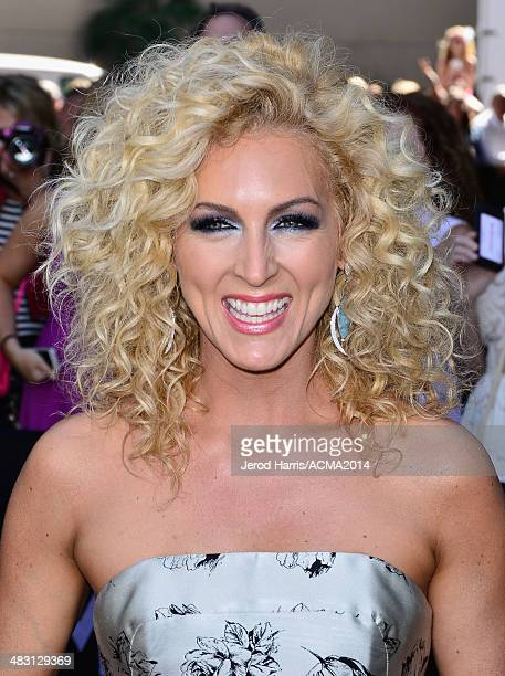 Recording artist Kimberly Schlapman of Little Big Town attends the 49th Annual Academy of Country Music Awards at the MGM Grand Garden Arena on April...