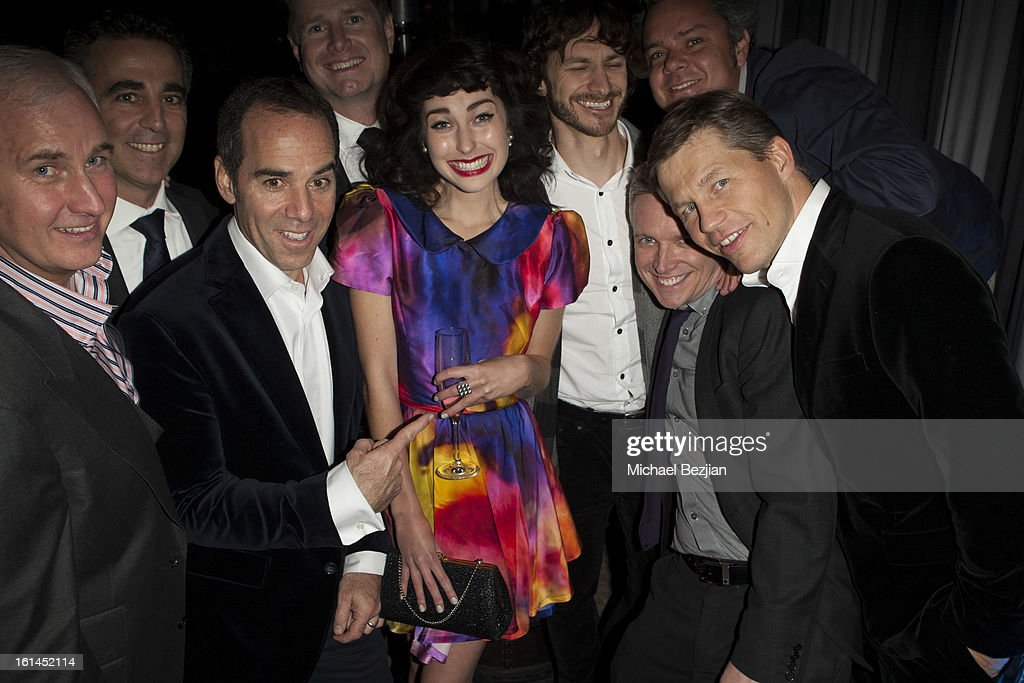 Recording artist Kimbra with industry executives attends Republic Records Post Grammy Party at The Emerson Theatre on February 10, 2013 in Hollywood, California.