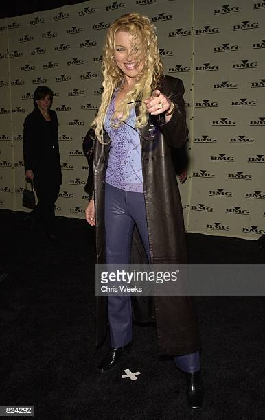 Recording artist Kristine W arrives at BMG's PostGrammy Party February 21 2001 in Los Angeles CA
