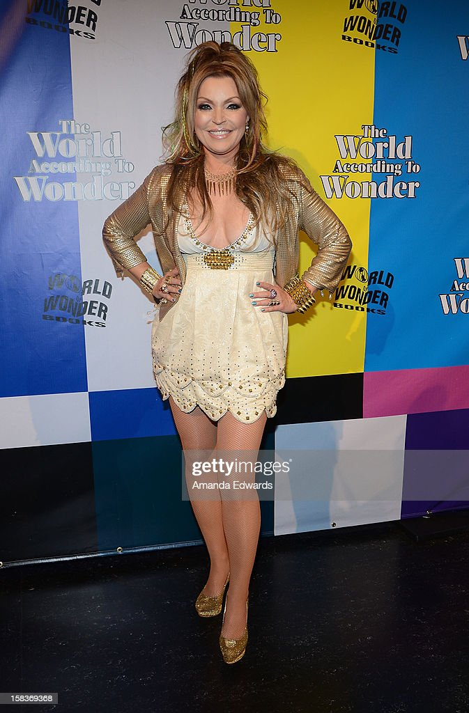 Recording artist Kristine W. arrives at the World Of Wonder book release party/birthday bash at The Globe Theatre at Universal Studios on December 13, 2012 in Universal City, California.