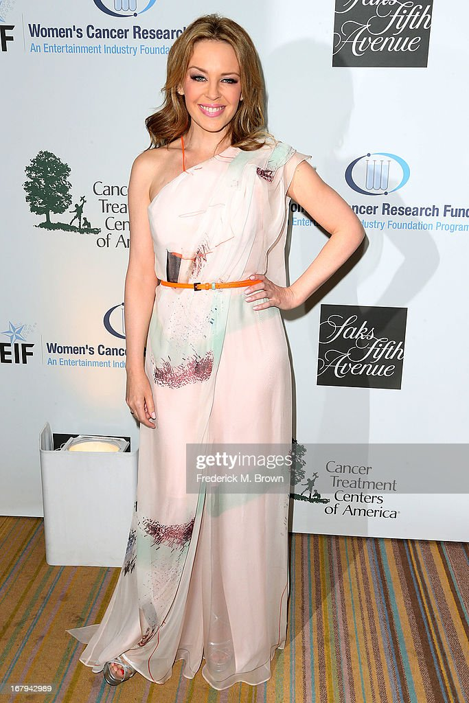 Recording artist Kylie Minogue attends the EIF Women's Cancer Research Fund's 16th Annual 'An Unforgettable Evening' presented by Saks Fifth Avenue at the Beverly Wilshire Four Seasons Hotel on May 2, 2013 in Beverly Hills, California.
