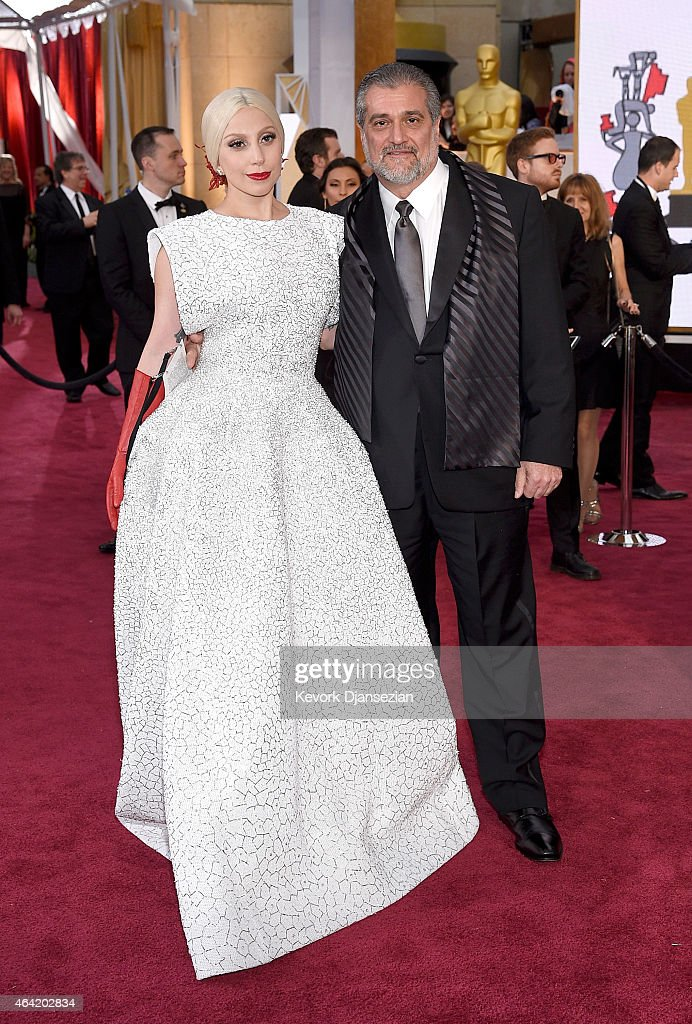 Recording artist Lady Gaga and Joseph Germanotta attend the 87th Annual Academy Awards at Hollywood Highland Center on February 22 2015 in Hollywood...